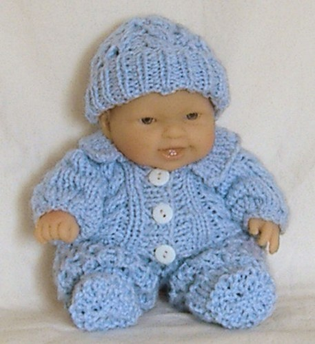 Knitting Patterns For 8 Berenguer Doll Clothes : Hand knit boy baby doll clothes 8 inch Berenguer ...