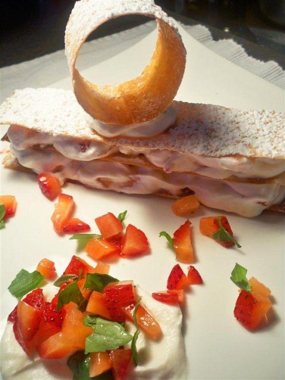 Strawberry Millefeuille | Dessert | Pinterest