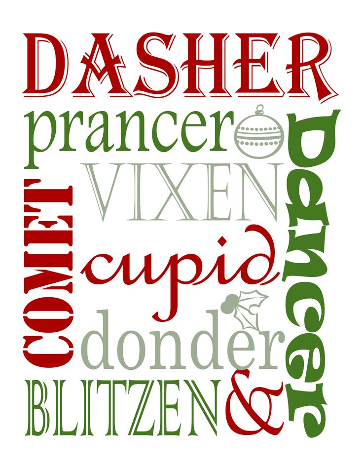 Free Christmas Printables | fonts & printables | Pinterest