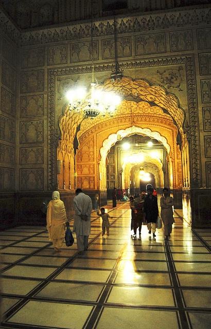Main corridor inside Badshahi MosqueInside Badshahi Mosque