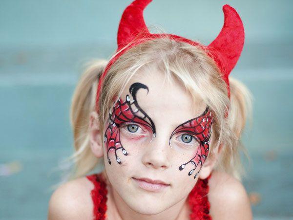 Halloween Devil Makeup For Little Girls | Halloween Costumes | Pinterest