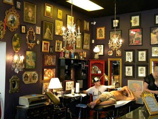 awesome tattoo shop inside pinterest. Black Bedroom Furniture Sets. Home Design Ideas