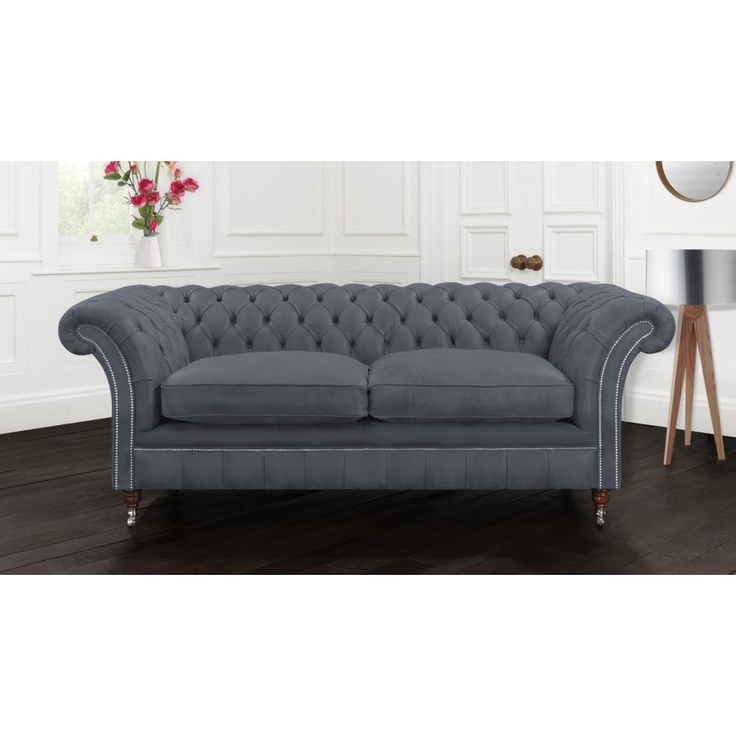 gray chesterfield sofa live pinterest. Black Bedroom Furniture Sets. Home Design Ideas