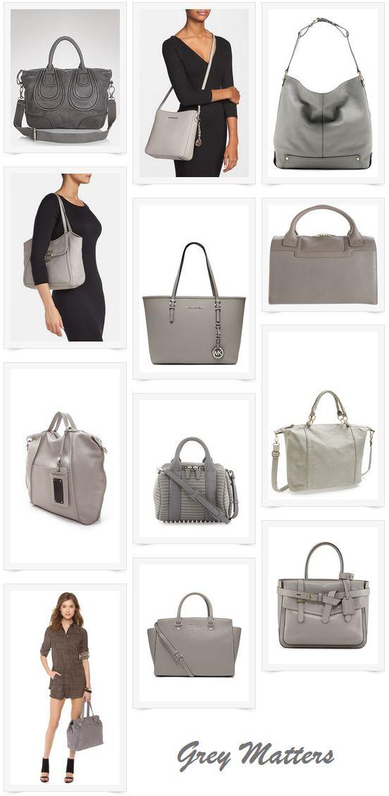 Grey Handbags