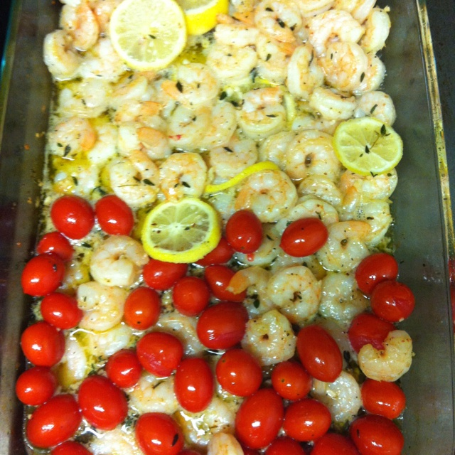 Roasted Lemon Garlic Herb Shrimp from http://www ...