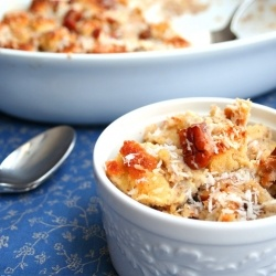 thai coconut milk bread pudding | Recipes to try | Pinterest