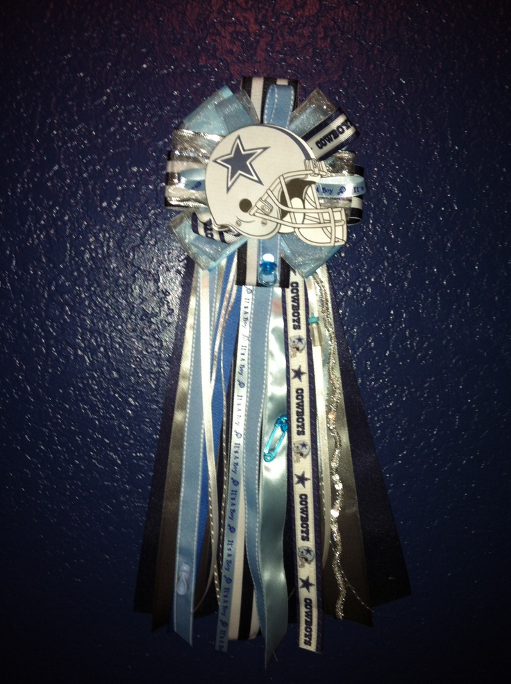 dallas cowboy baby shower corsage baby shower pinterest
