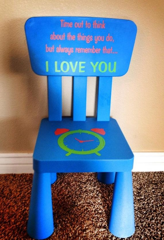 Time Out Chair Vinyl Decal