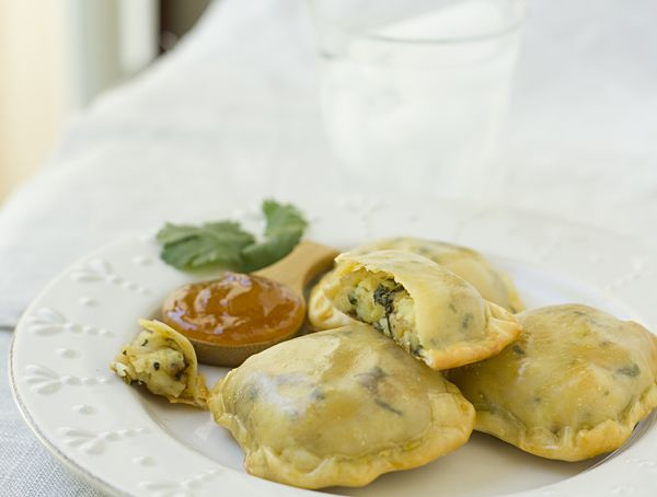 Potato Goat Cheese Pockets - I subbed feta for the goat cheese ...