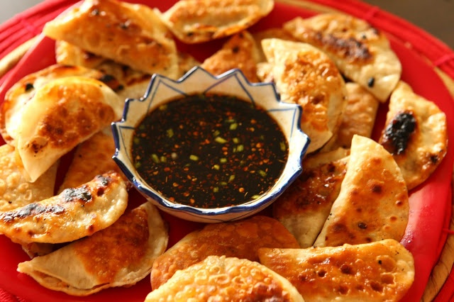 Vegetarian Potstickers - The Mistress of Spices