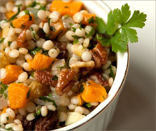 Israeli couscous with butternut squash and preserved lemon
