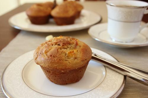 peach muffins, reduce sugar | Breakfast | Pinterest