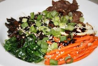 Paleo Korean Cauliflower Rice Bowl. At the farm, we call this Bi Bim ...