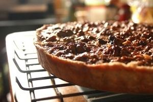 walnut pie with dried cherries made a caramel brown butter walnut pie ...