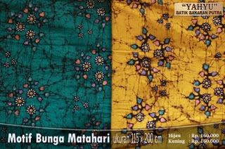 Batik Bakaran motif Bunga Matahari dari Juwana