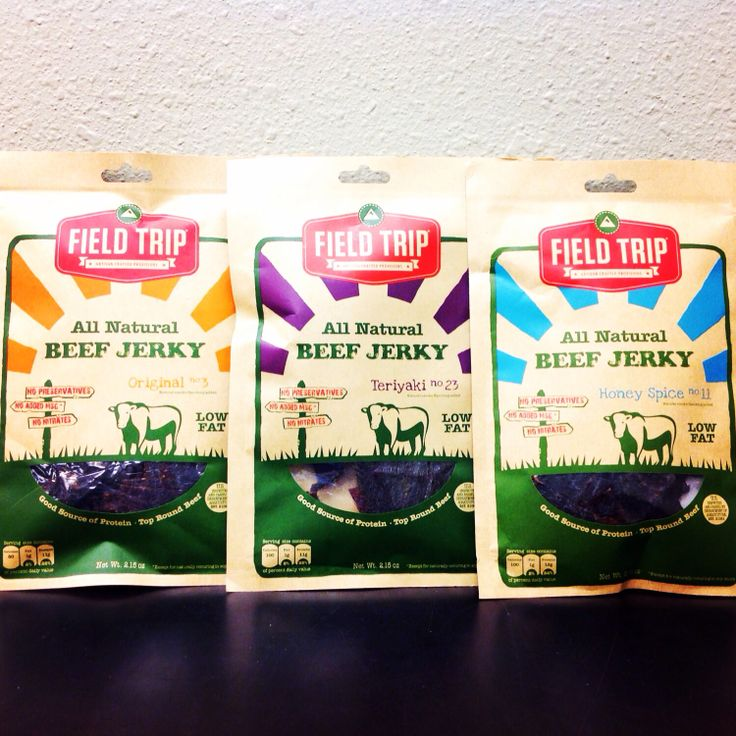 And no preservatives delicious beef jerky from field trip 8 00