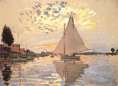 Sailboat at Petit-Gennevilliers, by Claude Monet.