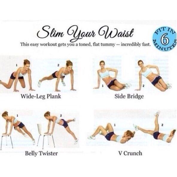 Waist-Slimming Ab Exercises -  Waist Training Exercises