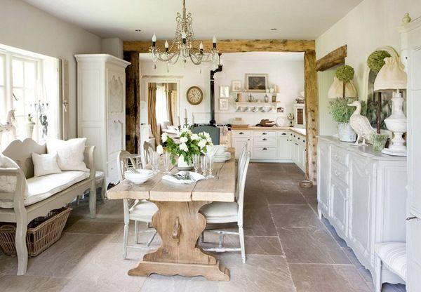 Elegant European farm house decor