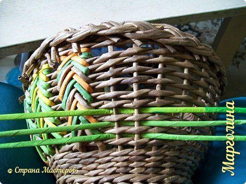 Новое в плетении из газетных трубочек фото