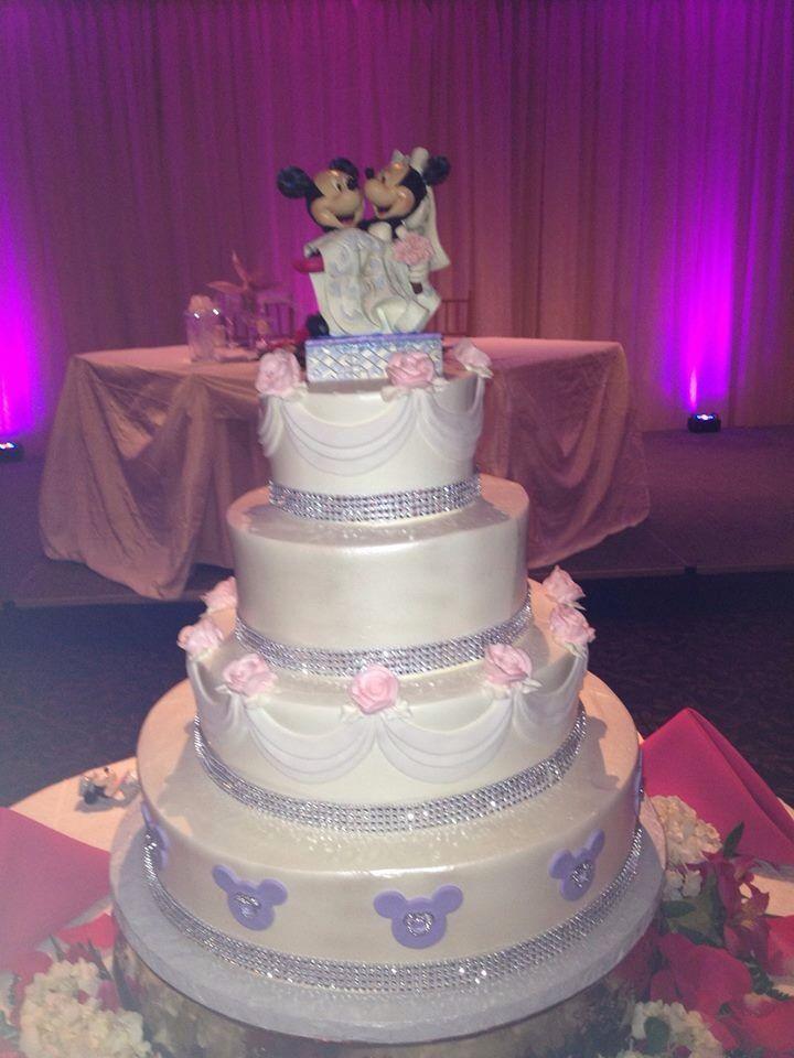 Disney Wedding Cake At Our Wedding