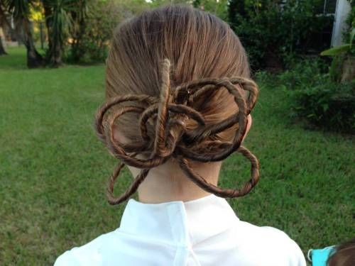 party hairstyles for medium length hair : Padme hairstyle Pinned & Done Pinterest