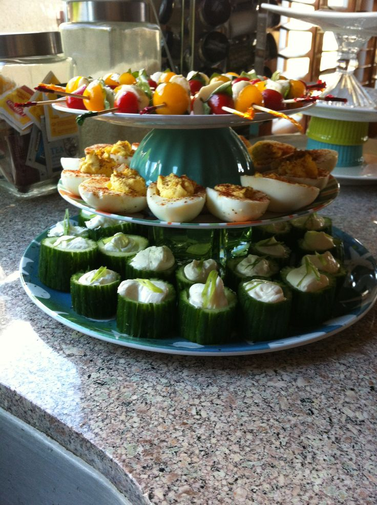 appetizers for baby shower toothpick caprese deviled eggs and