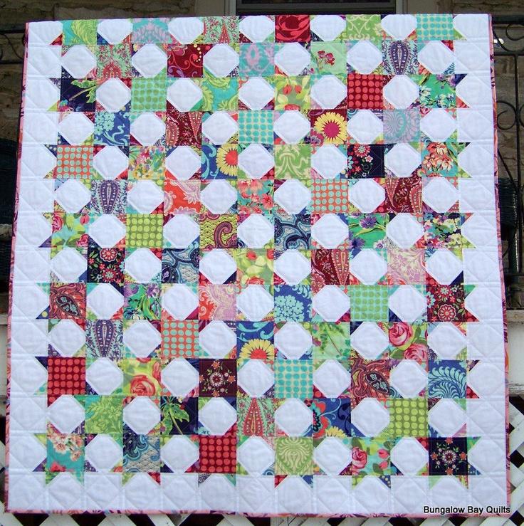 Modern Patchwork Quilt 329 00 Via Etsy