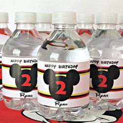 Add some fun to your water bottles! These were made for a birthday party but can be printed for free for added summer fun!