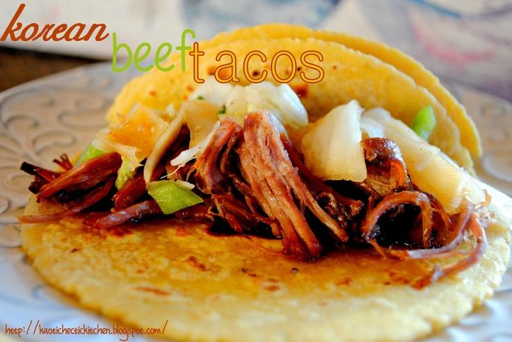 my kaotic kitchen: korean short rib tacos {crockpot} with homemade ...