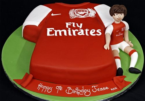 arsenal costume football birthday cake for boys