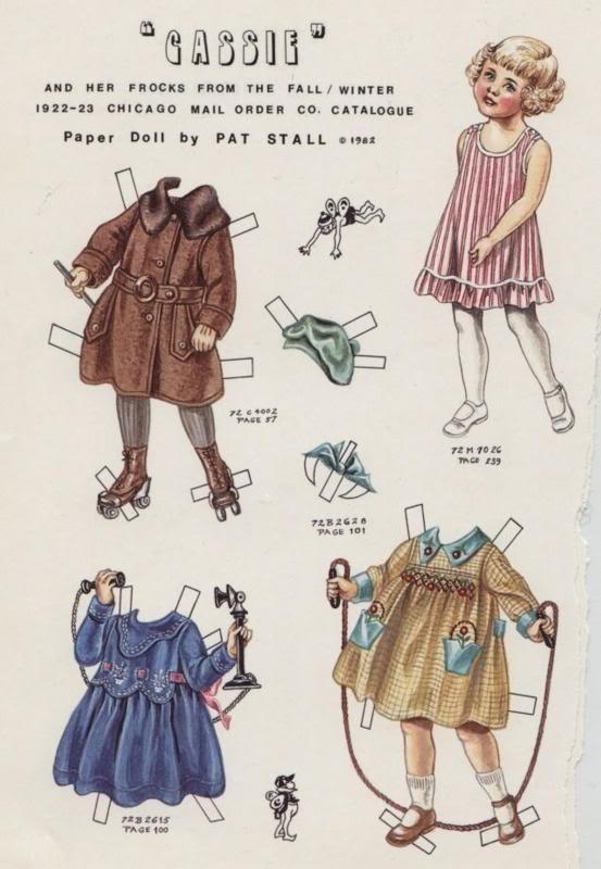 Vintage paper dolls - Cassie