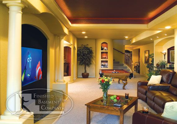 Cool basement beautiful home designs pinterest for Cool basements