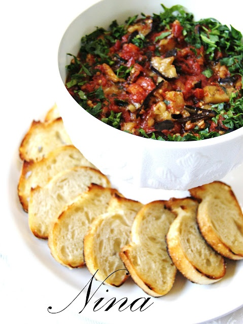 Roasted Eggplant Tomato and Garlic Salad | Eat: Salads - Veggies | Pi ...