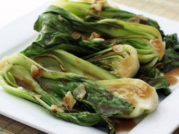 Stir Fried Shanghai Bok Choy with Ginger // Gourmet /// I cut mine ...