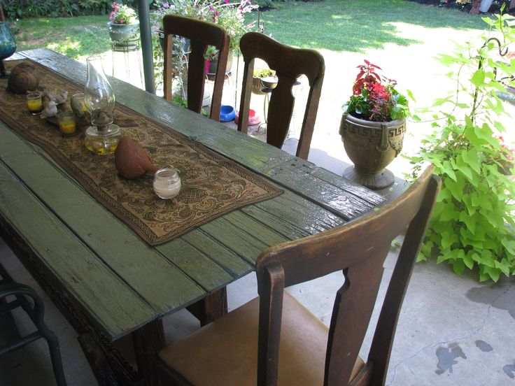 Farm Table I Made Out Of An Old Barn Door Cool Stuff Pinterest