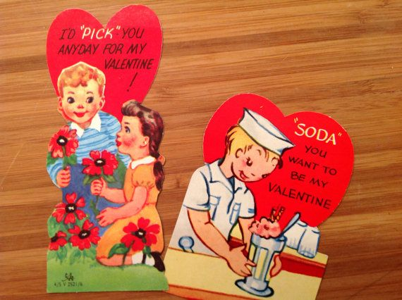 valentines cards etsy