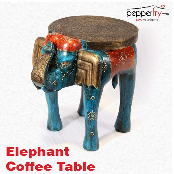 Elephant coffee table ethnic furniture pinterest Elephant coffee table