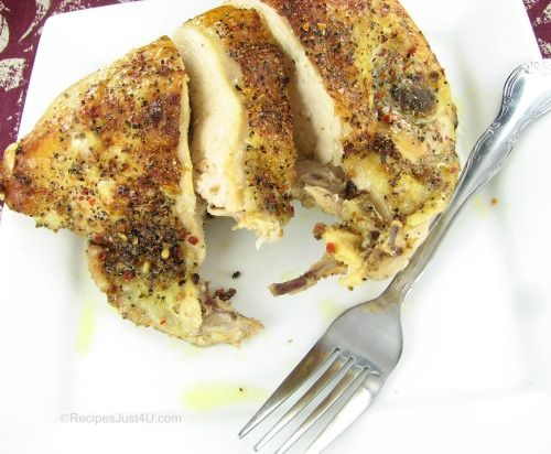 Herb Crusted Baked Chicken Breasts | Recipe