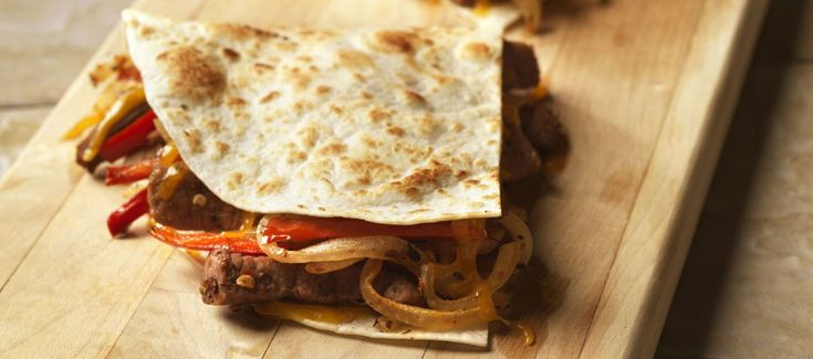 Spicy Steak and Bell Pepper Quesadillas | beef it's what for dinner ...