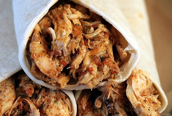 Fiesta Salsa Shredded Chicken -- An easy, yummy filling for tacos ...