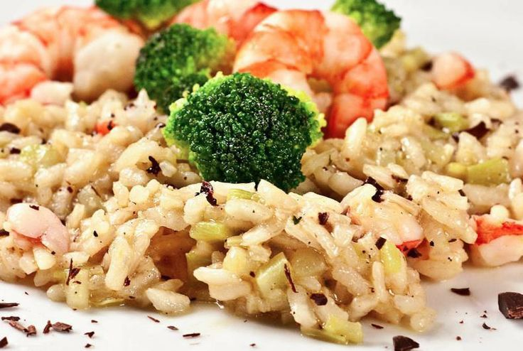 ... with broccoli, poached prawns, sesame seeds oil and dark chocolate