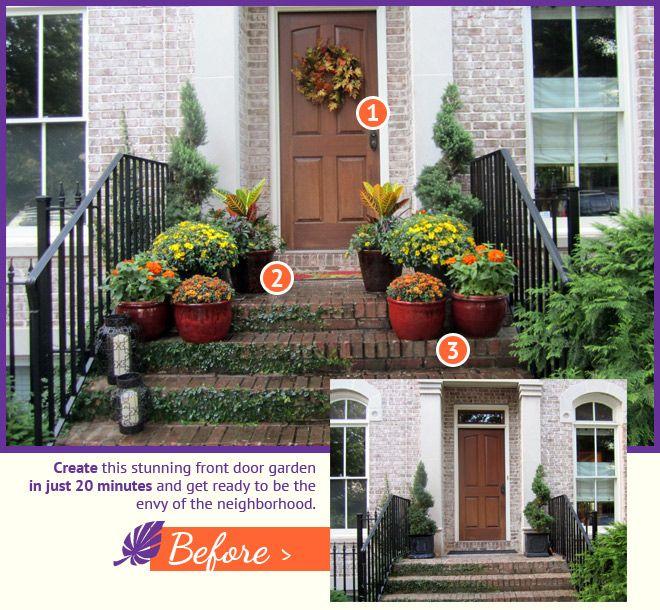 Pin by catharine sulewski on garden pinterest - Outdoor plants for front door ...