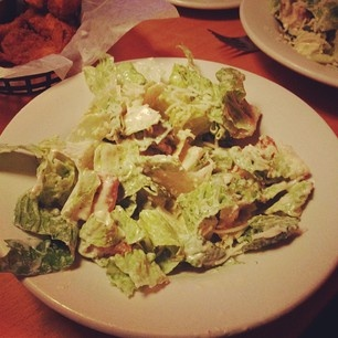 Caesar Salad.. Texas Roadhouse. (My favorite food and restaurant)