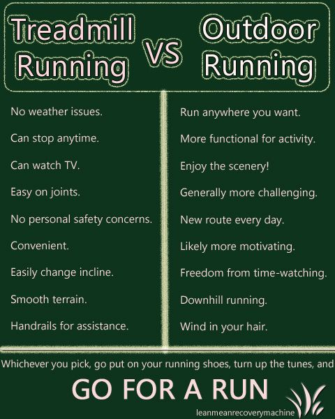 Treadmill vs Outdoor-- I've always been a treadmill runner but have discovered the joy of running outdoors... now that's all I want to do.
