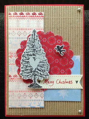 LindaCrea: Kerstboom(kaart)