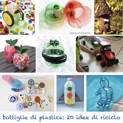 Lavoretti per bambini: riciclare bottiglie di plastica