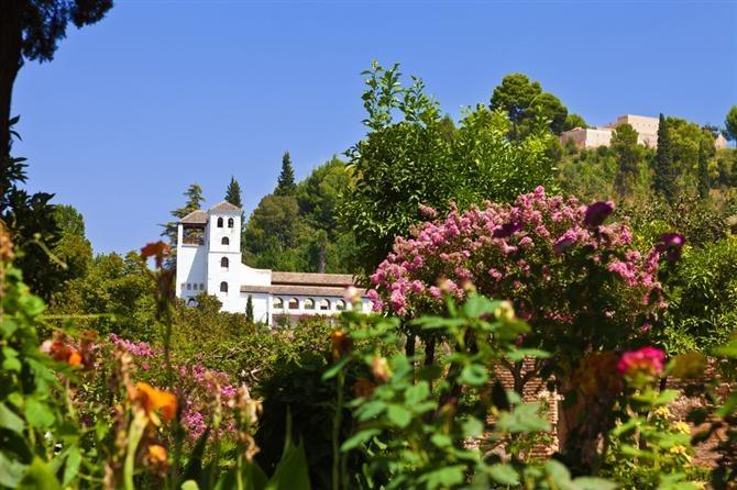 Granada - Generalife gardens  MI CIUDAD DE ORIGEN  Pinterest