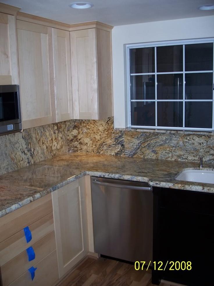 yellow river granite backsplash new house ideas pinterest