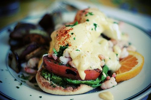 eggs benedict! with seafood! | ratatouille. | Pinterest